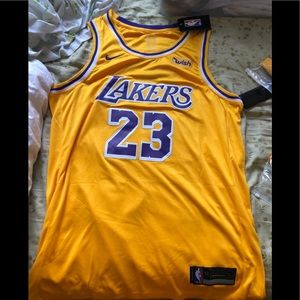 new style 2126f e3292 Nike Shirts | Lebron James Lakers Jersey Gold Icon | Poshmark